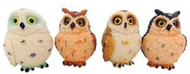Owl Figurines Set Of 4 Small Statues Each 3 Inc... - $30.44