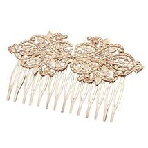 2 Pcs Vintage Metal 14 Teeth Side Comb Flower Vine Cirrus Hairpin Decorative Com