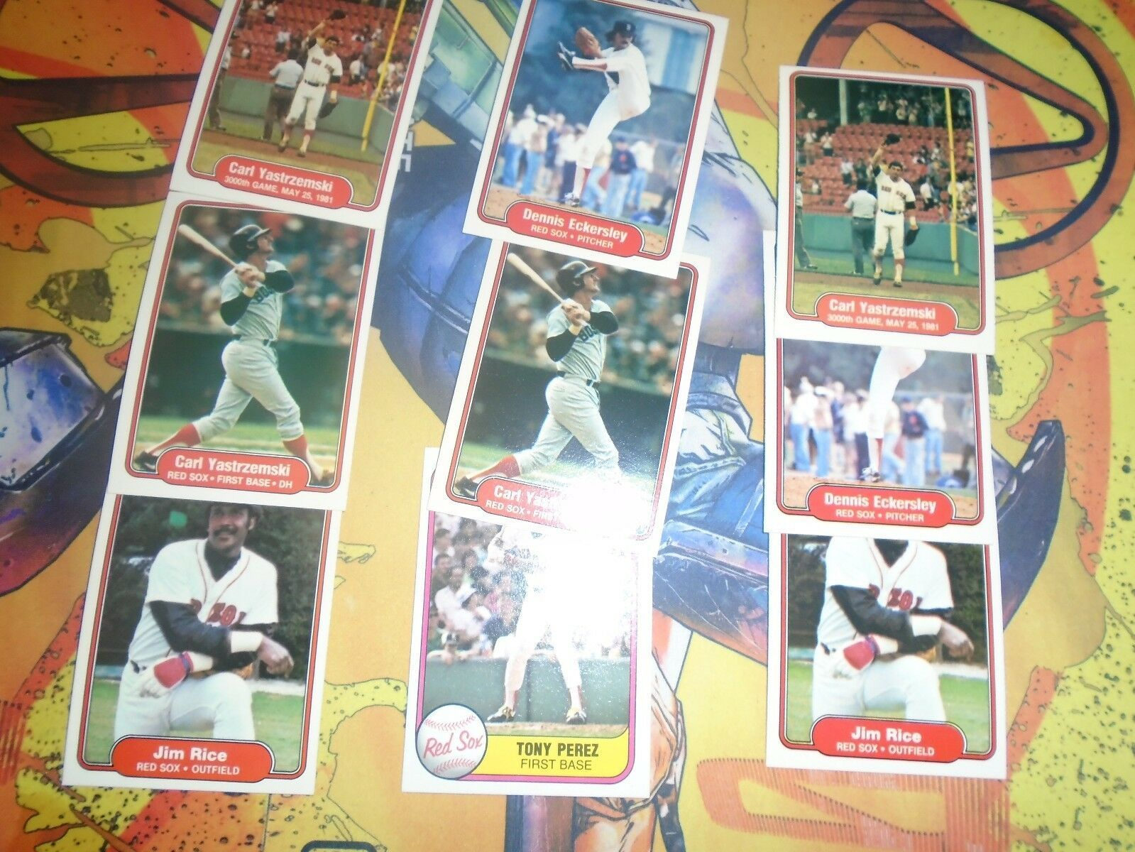 1981 1982 Fleer Red Sox Baseball 9 Card Lot Carl Yaztrzemski + More image 3