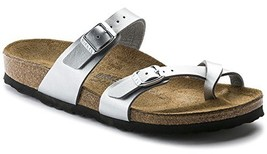 Mayari (Women's) Cork-Footbed Flat Sandals in Silver [New Style] (37 M EU / - $151.54