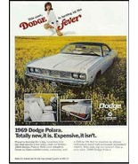 Retro Dodge Chrysler 1969 AD Dodge Polara Go Go Girl White Mod Boots Car... - $14.99