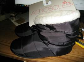 ladys aerosoles nylon fur lined bootie - $14.03