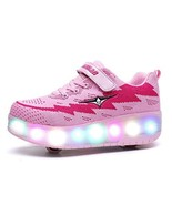 Ehauuo Girls Roller Shoes Kids Sparkling Wheels Shoes Boys Light up Roll... - $43.60