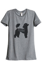Thread Tank Poodle Silhouette Dog Print Women's Relaxed T-Shirt Tee Heather Grey - $24.99+