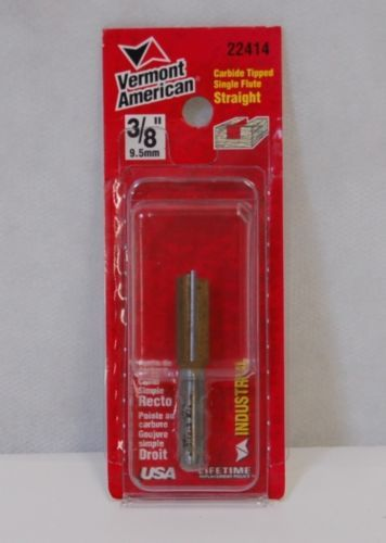 Vermont American 22414 Carbide Tipped Single Flute Straight Three Eights Inch