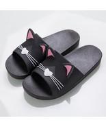 Women Summer Slippers Beach Slide Sandals Cartoon Cats Flip Flops Soft S... - $25.40