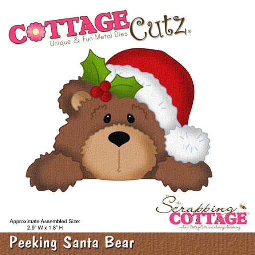 Peeking santa bear