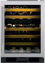 "Sub-Zero UW24STHRH 24"" Undercounter Wine Cooler Holds 46 Bottle Stainless - $2,672.95"