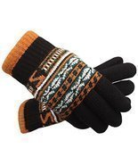 Black Autumn And Winter Men Thickening Warm Knitted Wool Fluff Gloves - £15.03 GBP