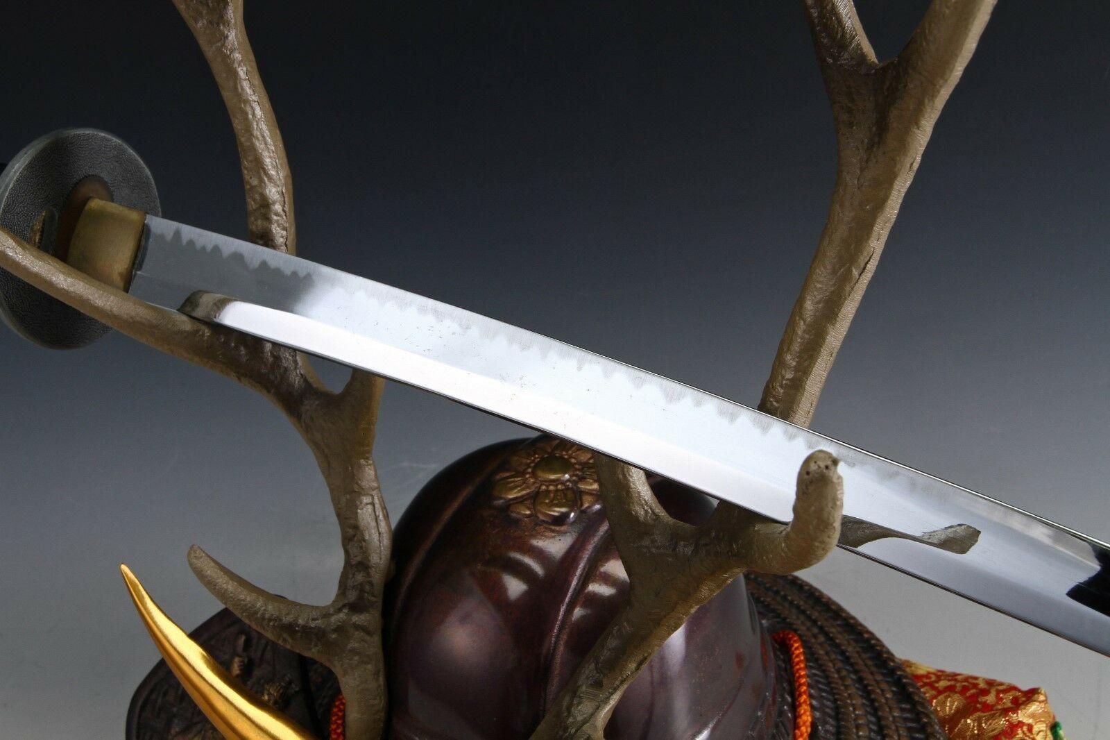 Japanese Beautiful Samurai Helmet -shikanosuke kabuto- with a Replica Blade image 9
