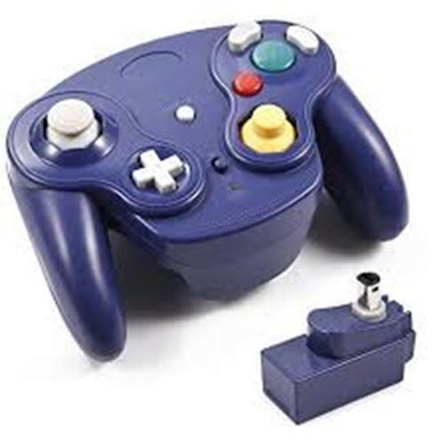 1 Nintendo Game Cube Wii Wireless Wavebird Game Pad Controller Blu 2.4 GHZ Nuovo
