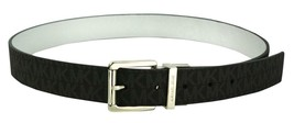 Michael Kors Women's MK Logo Premium Leather Reverisble Belt Black 551508 image 2