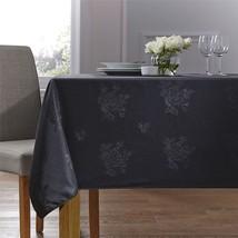"Woven Damask Rose Black Circular Round Tablecloth 35"" (89CM) - $18.23"