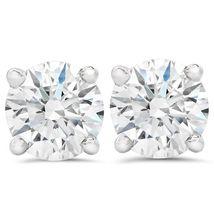 2ct Round Diamond Screw Back Studs 14K White Gold Finish 925 Sterling Silver - $42.99