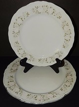 """Sheffield Fine China Classic 501 Japan 12"""" Platter and Dinner Plate Silver Rim - $39.59"""