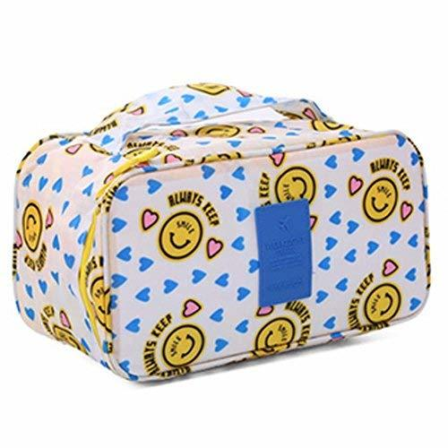 Durable Smiling Face Large Capacity Portable Travel Cosmetic Bag
