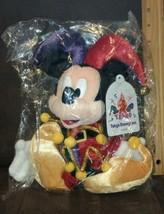 Mickey Mouse Jester Bean Bag Plush Toy Tokyo Disneyland 15th Anniversary - $19.99