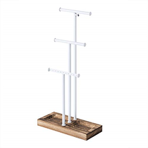Love-KANKEI Jewelry Tree Stand White Metal & Wood - Basic & Larg... - $21.08