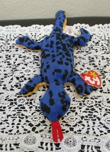 Ty Beanie Baby Lizzy the Lizard 4th Gen Hang Tag 3rd Generation Tush Tag... - $29.69