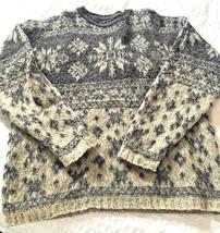 WOOLRICH Women's Sweater GRAY Large/Mens Medium - $18.38
