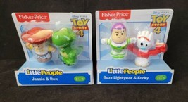 Fisher Price Little People Disney Toy Story 4 Figures Buzz Jessie Rex Fo... - $19.79