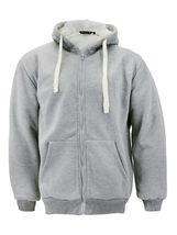 Men's Heavyweight Thermal Zip Up Hoodie Warm Sherpa Lined Sweater Jacket image 14