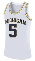 Jalen Rose #5 College Basketball Custom Jersey Sewn White Any Size image 1