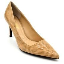 J Renee Womens Alipha Leather Embossed Snake Skin Pumps US Size 7M Tan  - $28.60