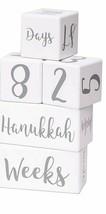 Premium Wood Baby Milestone Blocks Set w/ Baby Hand and Footprint Kit Ph... - $26.72