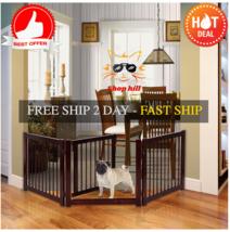"24"" Configurable Folding Free Standing 3 Panel Wood Pet Dog Safety Fence... - $65.89"