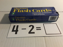 VINTAGE IDEAL SCHOOL SUPPLY HORIZONTAL SUBTRACTION FLASH CARDS - $19.99