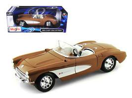 Maisto 1957 Chevrolet Corvette 1:18 Scale Diecast Car Bronze Brand New i... - $24.99