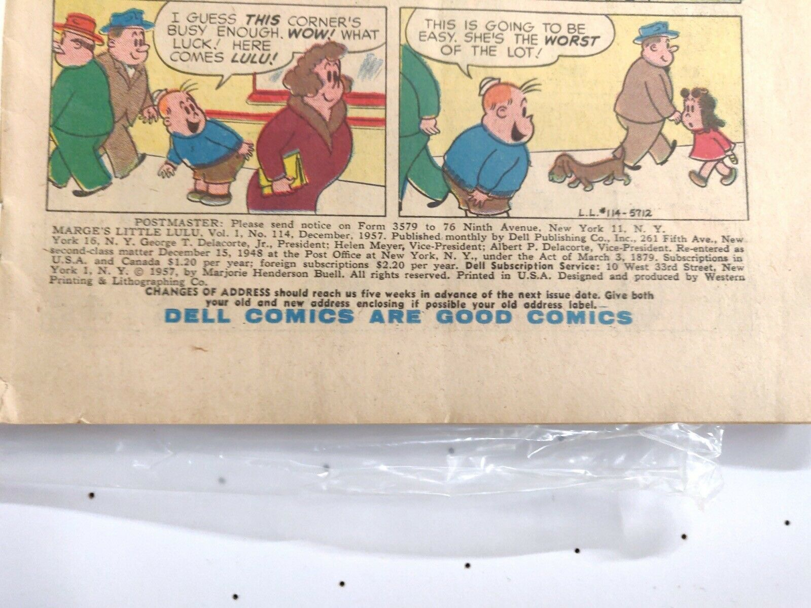 Marge's Little Lulu Issue 117 December 1955 Dell VG
