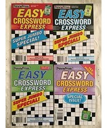 (4) Easy Crossword Express Super Jumbo Special Crosswords Puzzles Books ... - $16.78