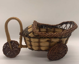 Vintage Wicker Tricycle Carriage Planter - $12.00