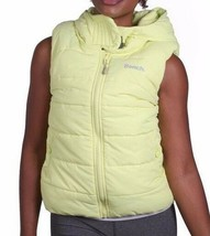 Bench Womens Reflective Yellow Trickster II Gillet Bubble Vest w Hood NWT image 2