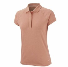 New Nike Ladies Dri-Fit UV Golf Polo Cap Sleeve Polo Coral AR4262-606 La... - $45.00