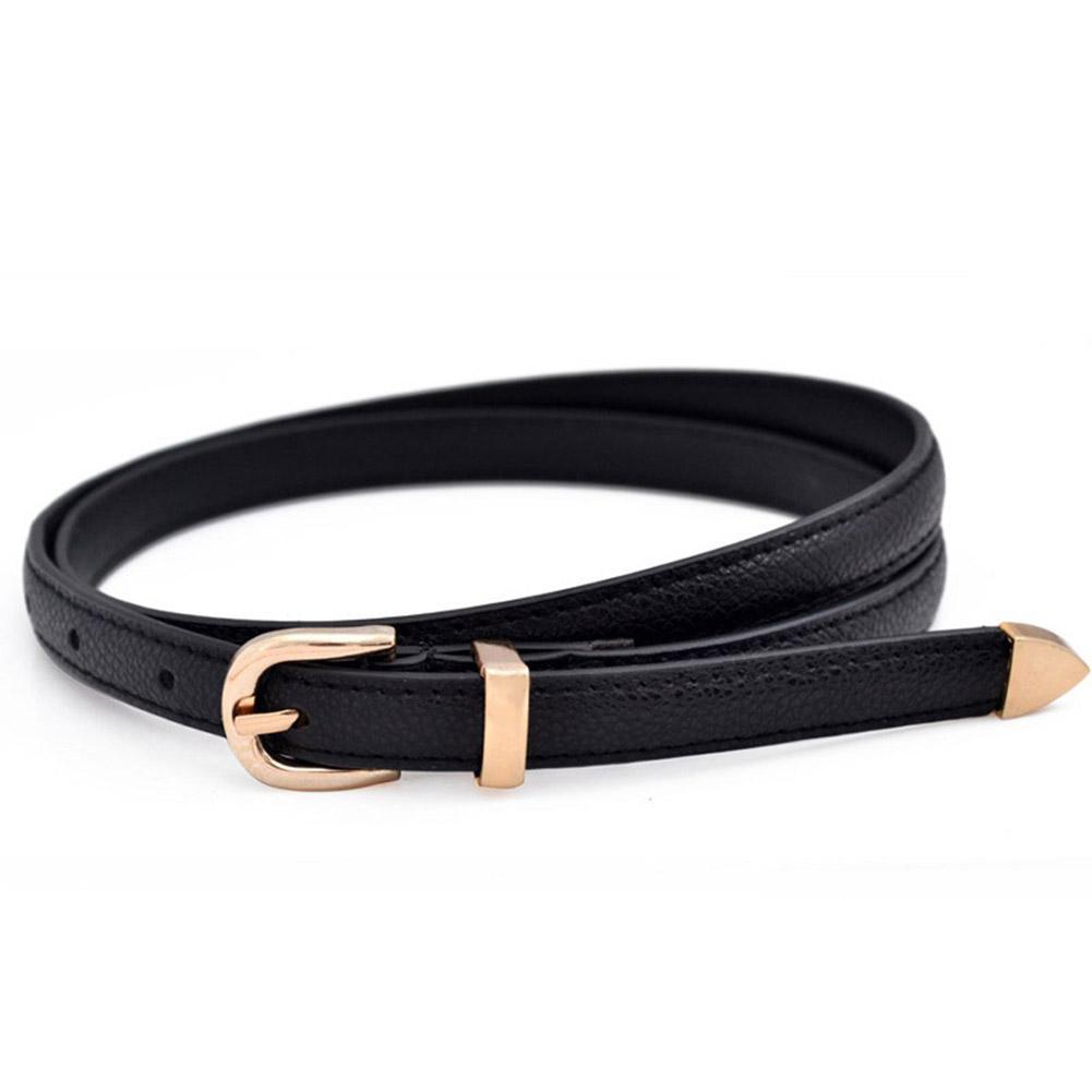 Primary image for 1 Pc 2018 New Fashion Simple Candy Color Patent Leather Thin Belt Women Girl Kid