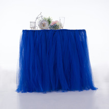 Any Color TABLE TUTU Skirt Rainbow Table Tulle Skirt Tutu Tulle Table Decoration image 4