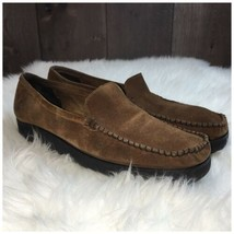Sesto Meucci Womens Size 9 N Brown Suede Slip On Loafer Flats - $32.81