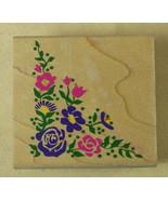 Rubber Stampede FLORAL CORNER Stamp SPRING ARRANGEMENT Flowers Z482-E - $1.94