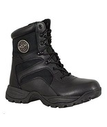 Mens Motorcycle Leather Nylon Lace front Tactical boot w/ side zipper (m... - $79.99