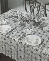 Pineapple Doilies Tablecloth Runner Luncheon Buffet Armchair Crochet Patterns  image 5