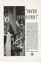 Bell Telephone You're Connected Installer to Customer 1934 Occupational Ad - $10.99
