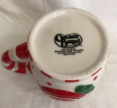 Cracker Barrel Ceramic Christmas Embossed Sweets & Treats Mug & Spoon Set Candy image 8