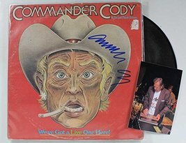 "Commander Cody Signed Autographed ""We've Got a Live One Here"" Record Alb... - $49.49"