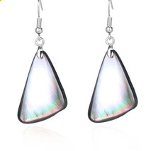 Natural mother-of-pearl earrings. - $42.00
