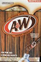 A & W Root Beer ~ 6 Sticks ~ Sugar Free ~ Drink Mix - $3.99