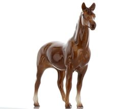 Hagen Renaker Miniature Horse Thoroughbred Race Swaps Ceramic Figurine Boxed image 3
