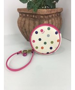Coach Round Coin Purse F62316 Multi Dot Wallet  Zip Strap F62316 Pink W11 - $79.19